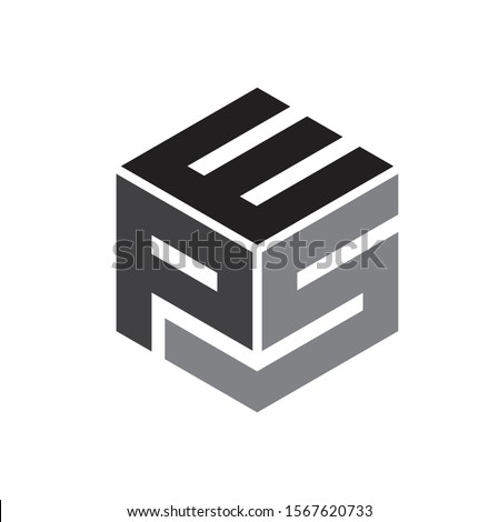 Initial / Letter E,P and S with box for logo design inspiration - Vector Stock fotó ©
