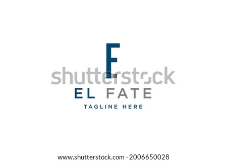 Initial letter EF logo design vector illustration. Letter EF icon design. Suitable for business and Technology logos,isolated on White background Stok fotoğraf ©