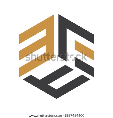 Initial letter ef logo or fe logo vector design template Stok fotoğraf ©