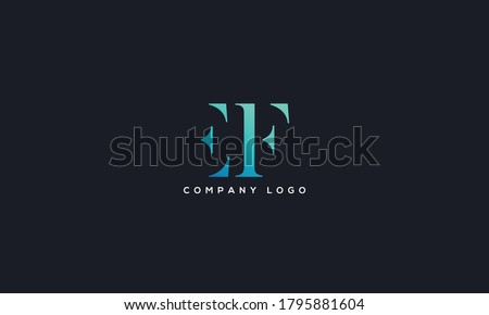 Initial Letter EF or FE Logo Design vector Template. Creative Abstract EF Logo Design Vector Illustration Stok fotoğraf ©