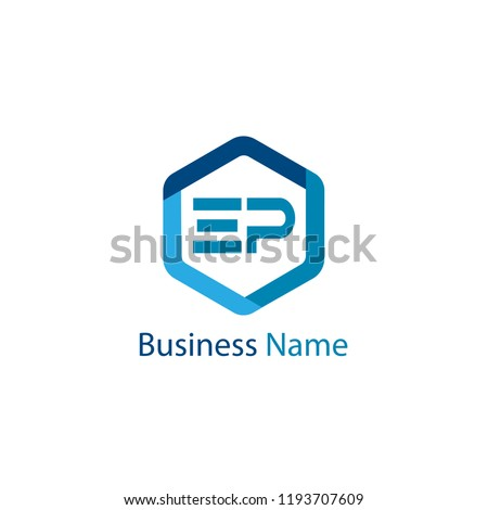 Initial Letter EP Logo Template Design