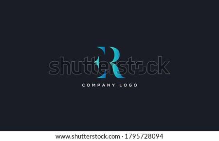 Initial Letter ER or RE Logo Design vector Template. Creative Abstract ER Logo Design Vector Illustration Stock fotó ©
