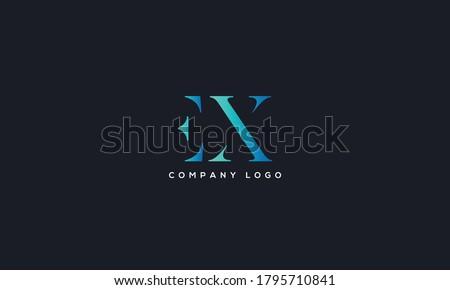 Initial Letter EX or XE Logo Design vector Template. Creative Abstract EX Logo Design Vector Illustration ストックフォト ©