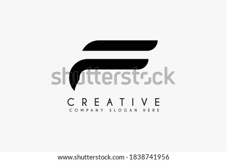 Initial letter F logo design vector illustration. Letter F icon design. Suitable for business and Technology logos,isolated on White background Foto stock ©