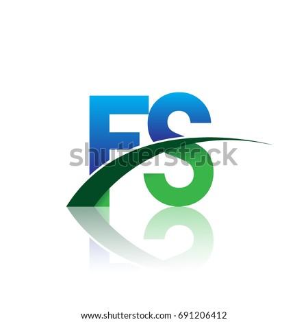 initial letter fs logotype