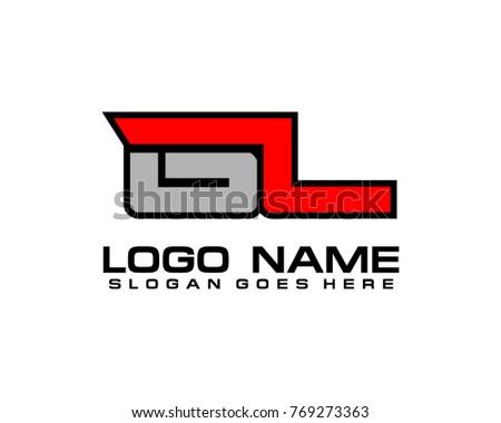 Initial letter G & L logo template vector Stok fotoğraf ©