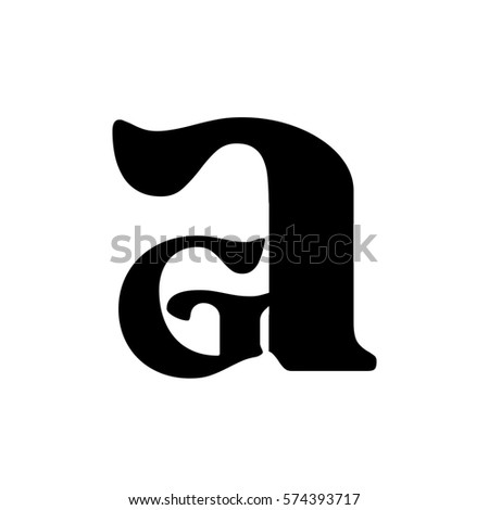 initial letter ga black color