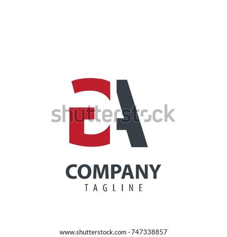 initial letter ga design logo
