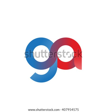 initial letter ga linked circle