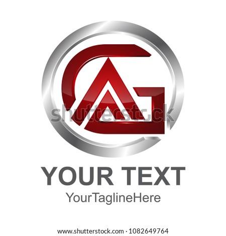 initial letter ga logo template