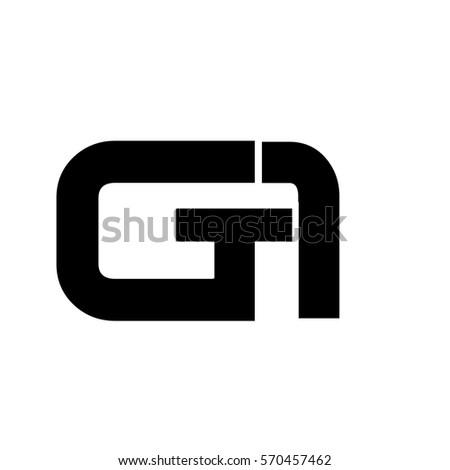initial letter ga logo vector