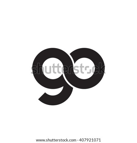 initial letter go linked circle