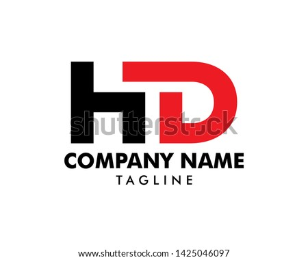 Initial Letter HD Logo Template Design Stock fotó ©