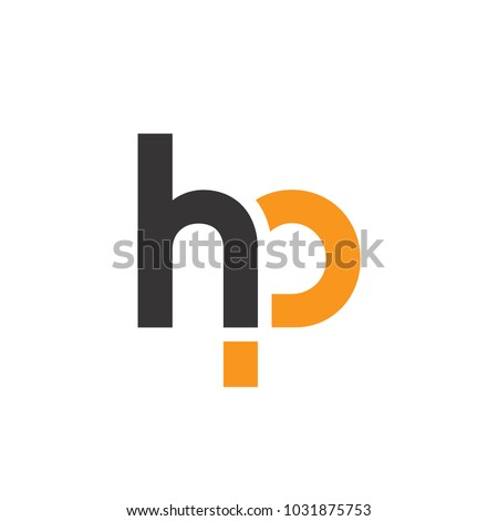 initial letter hp linked circle