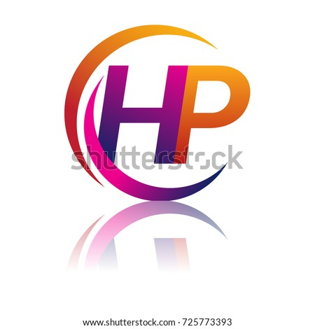 initial letter hp logotype