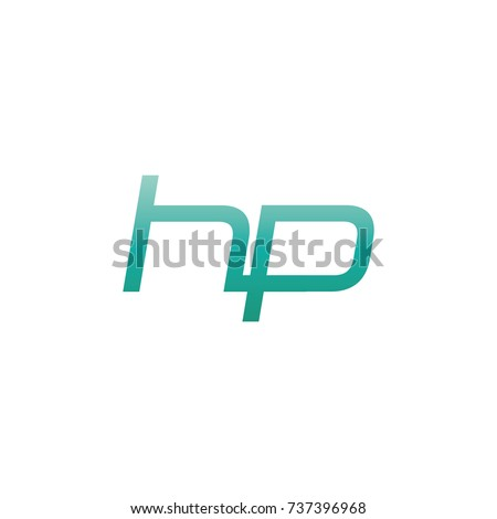 initial letter hp thin logo