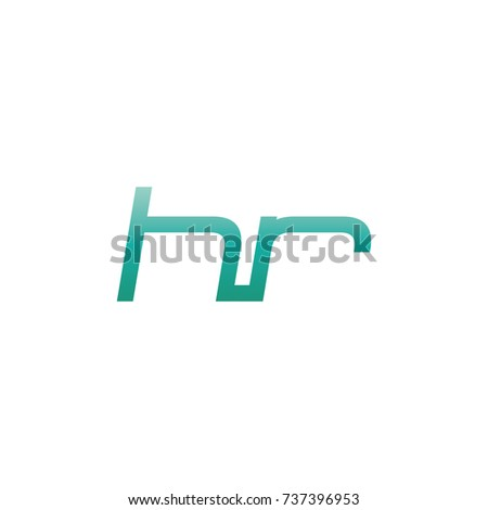 initial letter hr thin logo design