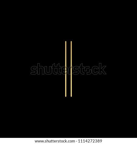 initial letter i ii minimalist