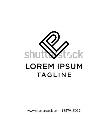 Initial letter I L P Logo Design Template Stock fotó ©
