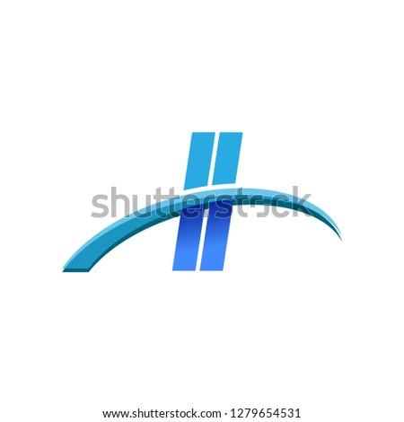 initial letter ii logotype