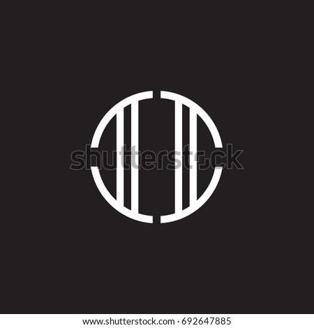 initial letter ii  minimalist