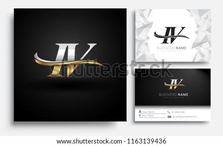 initial letter iv logotype