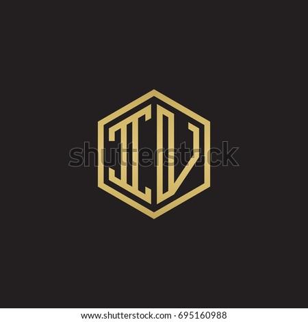 initial letter iv  minimalist