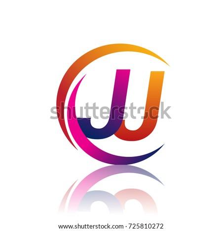 initial letter jj logotype