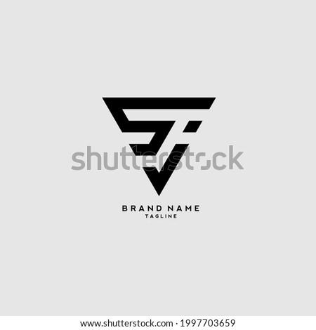 Initial letter JS or SJ logo template design Stock fotó ©