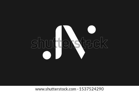 Initial Letter JV uppercase modern logo design template elements Stock fotó ©