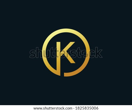 Initial letter K logo template suitable for businesses and product names. This stylish logo design could be used for different purposes for a company, product, service or for all your ideas. Zdjęcia stock ©