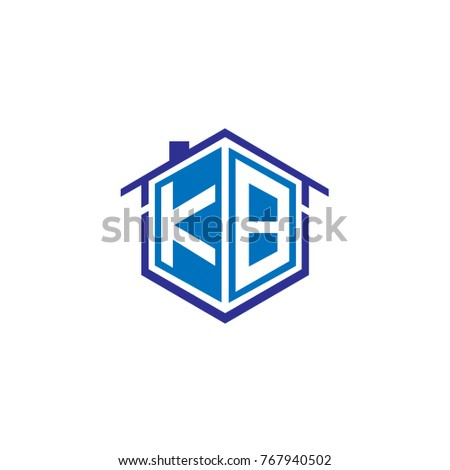 Initial letter KB House Logo Design for Property Company