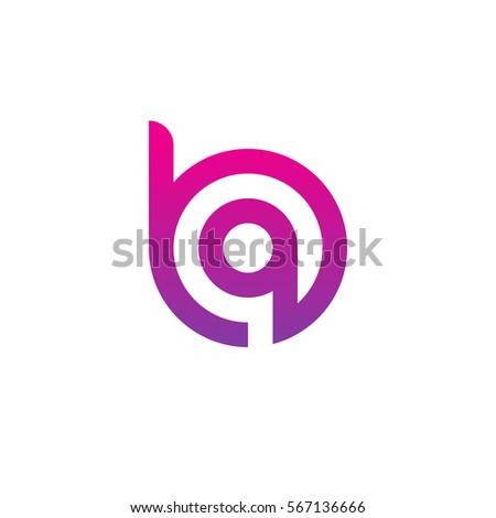 Initial letter logo ha, ah, a inside h… Stock Photo
