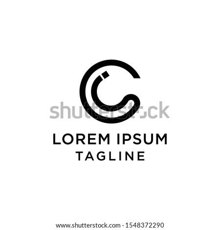 initial letter logo CI, IC logo template  Stock fotó ©