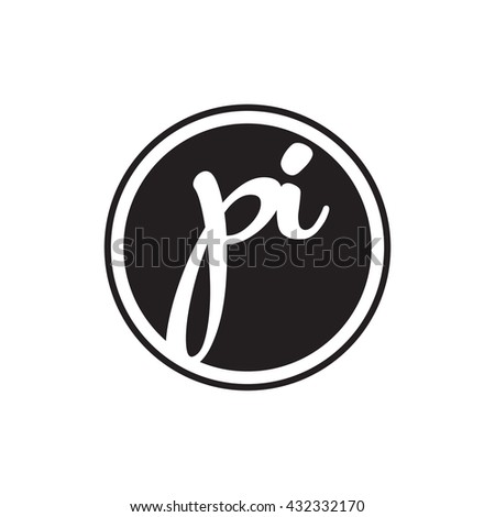 initial letter logo circle with ring Photo stock ©