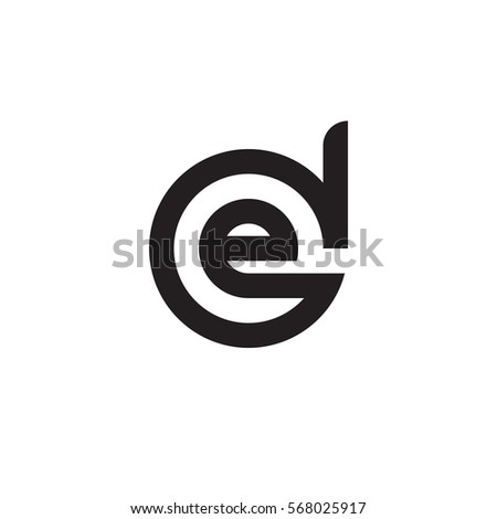 royalty free initial letter logo de ed e inside d 567998464