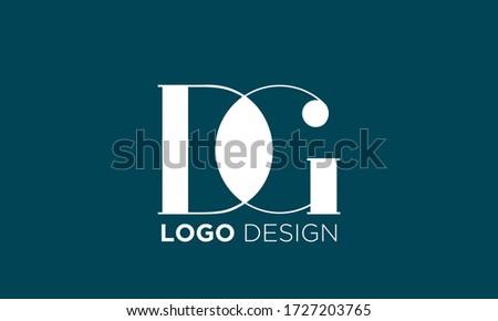 initial letter logo dg  gd