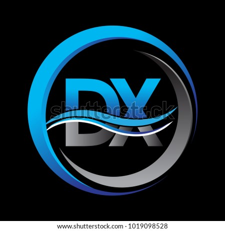 initial letter logo dx company