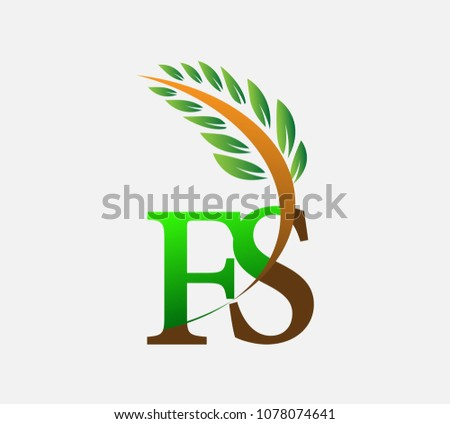 initial letter logo fs