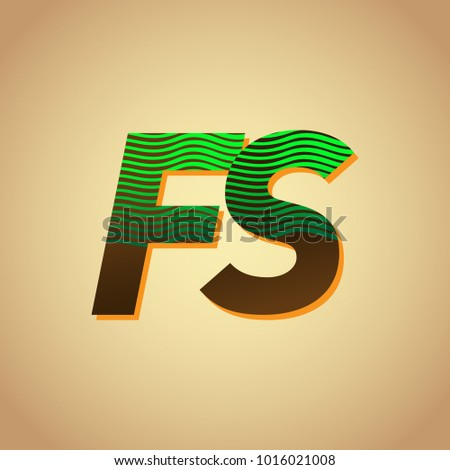 initial letter logo fs colored