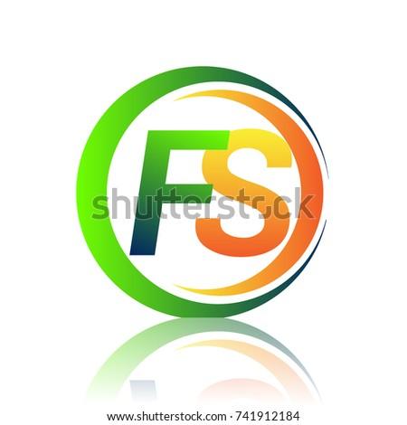 initial letter logo fs company
