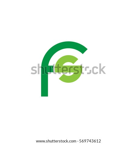initial letter logo fs rounded