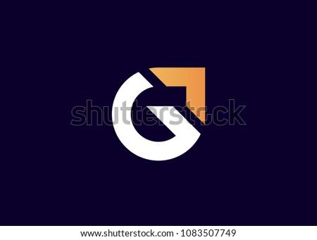 initial letter logo G, logo template Stok fotoğraf ©