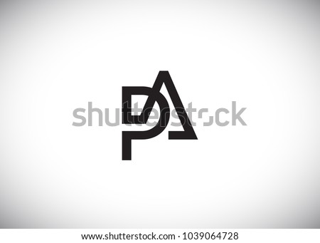 initial letter logo pa, ap, logo template