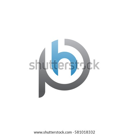 initial letter logo ph  hp  h