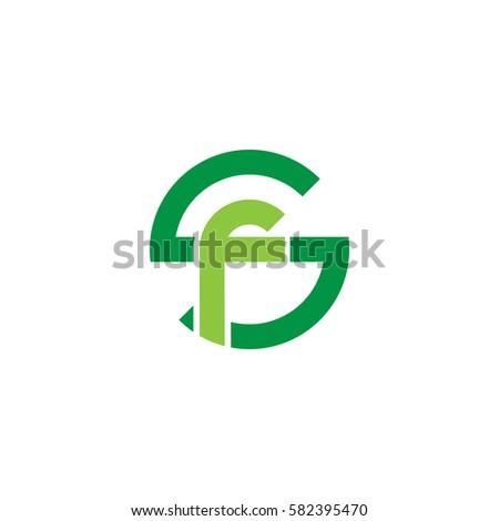 initial letter logo sf  fs  f