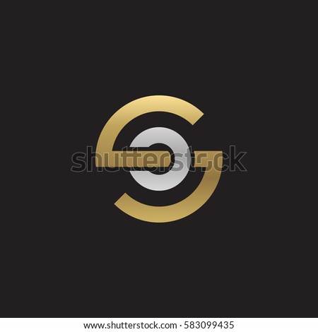 Initial Letter Logo So Os O Inside S Rounded Lowercase Gold Silver