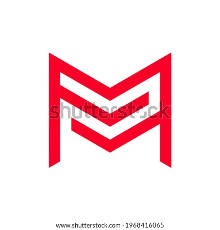 initial letter m and f logo Stock fotó ©