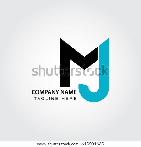 initial letter m j logo