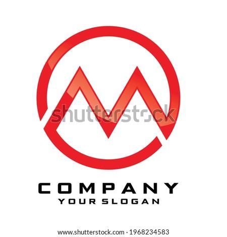 Initial Letter M line logo design. Clean Linear Rare unusual minimal elegant vector emblem sign design. Premium business logotype. Editable Luxury Logo Style Symbol